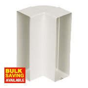 Manrose Vertical 90° Bend White 120mm