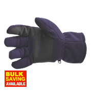 Portwest Non-Safety Thinsulate-Lined Fleece Gloves Purple/Black One Size Fits All