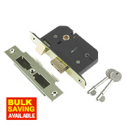 "Century 5-Lever Mortice Sashlock Brass Plated 3"" / 76mm"