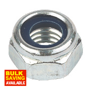 Easyfix Nylon Lock Nuts BZP Steel M10 Pack of 100