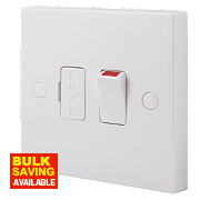 British General 13A Double Pole Switched Fused Connection Unit White