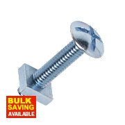 Roofing Bolts BZP M6 x 30mm Pack of 10