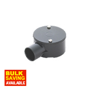 Tower 1-Way Terminal Box 25mm Black Pack of 1