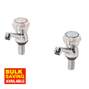 Swirl Contract Acrylic Head Basin Taps Pair Chrome