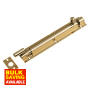 Necked Barrel Door Bolt Polished Brass 152mm