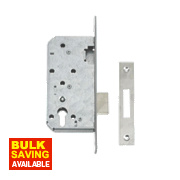 "Union 72mm Din Euro Cylinder Mortice Lock Stainless Steel 3½"" / 88mm"