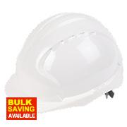 JSP EVO2 Mid Peak Non Vented Slip Ratchet Helmet White
