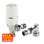 Danfoss RAS-D² White & Chrome TRV 8/10/15mm Angled & L/S