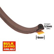 Stormguard EPDM Rubber P Strip Brown 20m