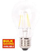 LAP GLS A60 LED Filament Lamp Clear ES 6W