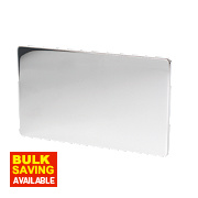 LAP 2-Gang Blank Plate Polished Chrome