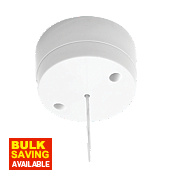 British General 6A 1-Way Pull Cord Switch White