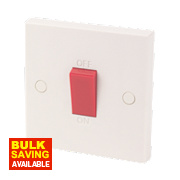 1-Gang 45A Cooker Switch White