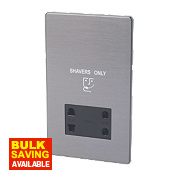 LAP Dual Voltage Shaver Socket 115V / 230V Slate Effect