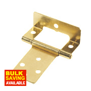 Cranked Hinges Electro Brass 39 x 50mm Pack of 20
