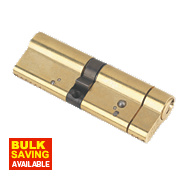 Yale AS Series Euro Double Cylinder Lock 50-45 (95mm) Polished Brass