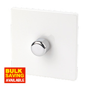 Varilight 1-Gang 1/2-Way Ice White Push Dimmer 1 x 400W