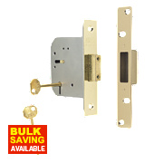 "ERA 5-Lever Mortice Deadlock Brass Effect 3"" / 76mm"