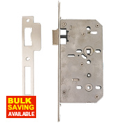 "Eclipse Din Standard Bathroom Lock Stainless Steel 2¾"" (72mm) Backset"