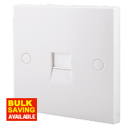 British General 1-Gang Master Telephone Socket White