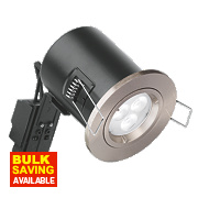 Aurora Fire Rated Fixed Compact LED Downlight IP20 Satin Nickel N/AW