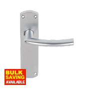 Serozzetta Dos Lever on Backplate Latch Pair Satin Chrome