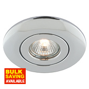 Fixed Circular Low Voltage Ceiling Downlight Converter Polished Chrome 12V
