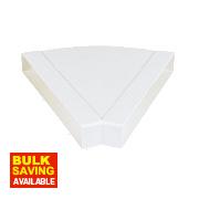 Manrose Horizontal 45° Bend White 225mm