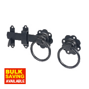 Ring Gate Latch Black 152mm