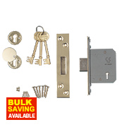 "Smith & Locke Easi-T BS 5-Lever Mortice Deadlock Stainless Brass 2 ½""/64mm"
