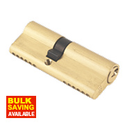 ERA 6-Pin Euro Cylinder Lock 35-45 (80mm) Brass