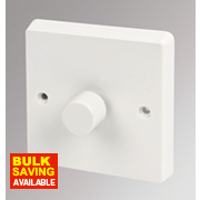 Crabtree 1-Gang 2-Way Push Dimmer Switch 400W White
