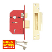 "Union 5-Lever Mortice Sashlock Brass 2½"" / 64mm"
