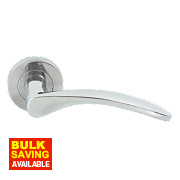 Jedo Monaco Door Handle Pair Polished Chrome