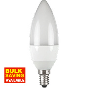 LAP Candle Opal LED Lamp White SES 6W