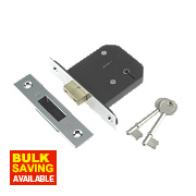 "Century 5-Lever Mortice Deadlock Chrome Plated 3"" / 76mm"