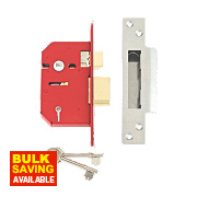 "Union 5-Lever Mortice Sashlock Stainless Steel 2½"" / 64mm"