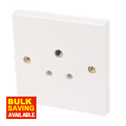 Round Pin Socket 5A White