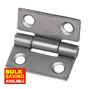 Steel Fixed Pin Hinges Self-Colour 25 x 22mm Pack of 20
