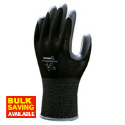 Showa 370 Assembly Grip Gloves Black Large