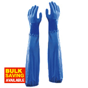 "Showa 690 Chemical Hazard 24"" Gauntlets Blue Large"