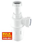 McAlpine Adjustable Inlet Bottle Trap 40mm White