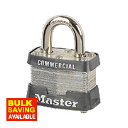 Master Lock Laminated Keyed Alike Padlock Steel 38mm