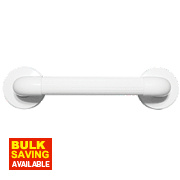 Elderly & Disabled Bathroom Grab Bar Anti-Bacterial ABS White 540 x 350mm