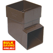 FloPlast RBS3 Square Downpipe Shoe Brown 65mm