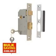 "Union 3 Lever Sashlock Satin Chrome 2½"" / 64mm"