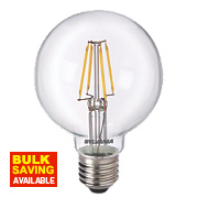 Sylvania Globe LED Lamp Clear ES 4W