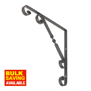 Decorative Stay Brackets Black 250 x 250mm