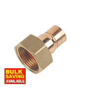 End Feed Straight Tap Connector 15mm x ¾""