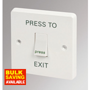 Crabtree 1-Gang 2-Way Retractive Switch marked